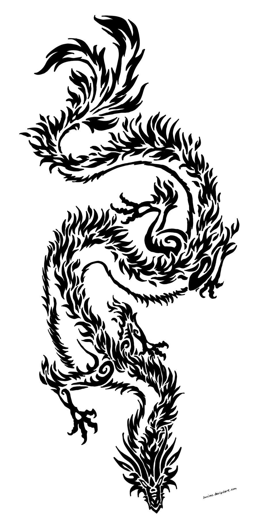 dragon tribal by sunima on deviantart. Black Bedroom Furniture Sets. Home Design Ideas
