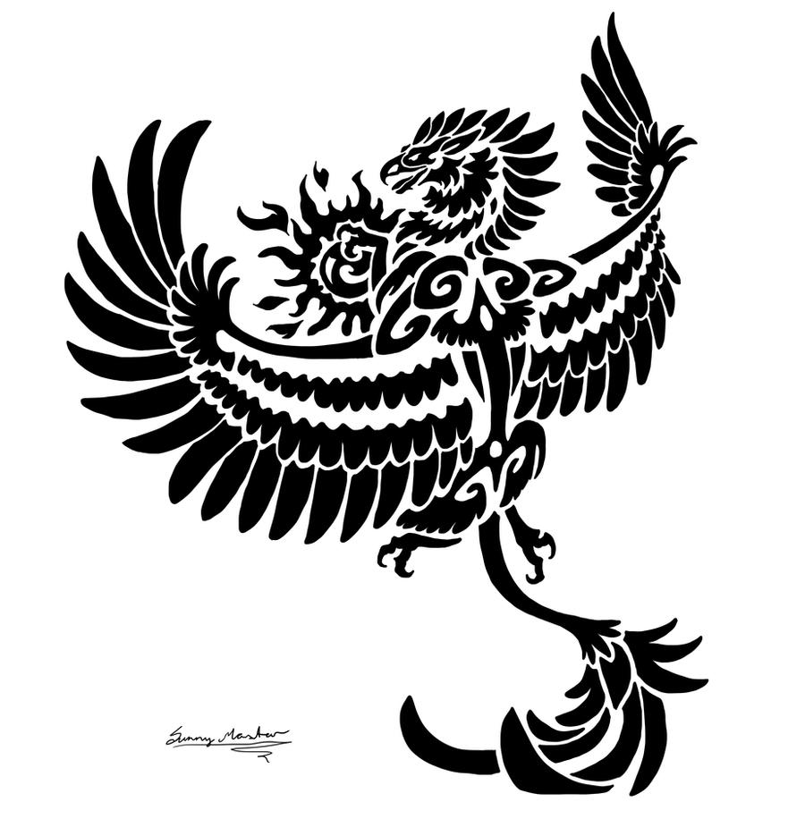 Sun Gryphon Tribal by Sunima