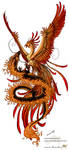 Phoenix and dragon by Sunima