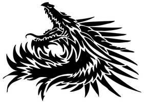 Dragon head tribal by Sunima