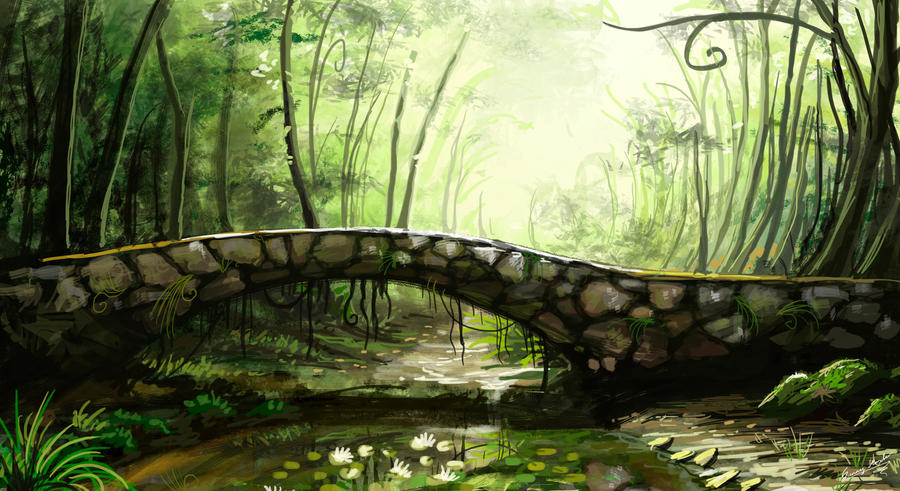 Speedpaint forest by Sunima