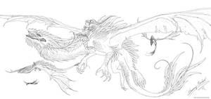 Dragonrider lineart