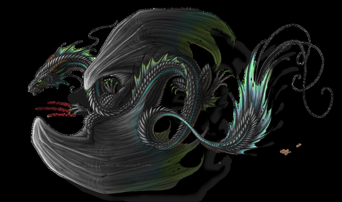 black dragon tattoo by sunima on deviantart. Black Bedroom Furniture Sets. Home Design Ideas
