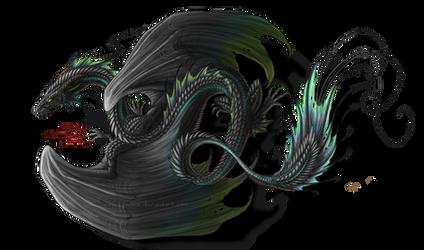 Black Dragon Tattoo by Sunima