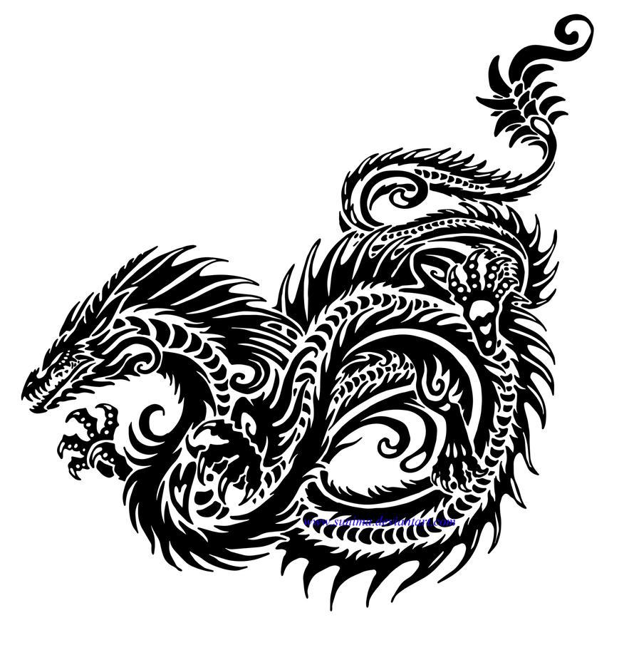 seaserpent tribal by sunima on deviantart