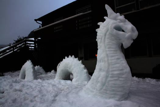 Midgardsormen snow sculpture