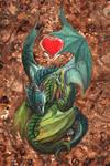 Dragon hatchling hug