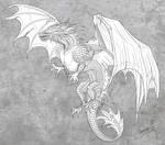 Dragon lineart for Freeflier181