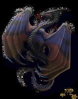 Dragon tattoo commission for AlixHiddleston by Sunima