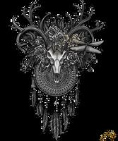 Dreamcatcher deerskull by Sunima