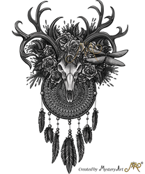 Dreamcatcher deerskull by Sunima
