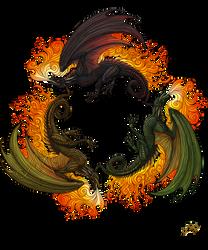 Three dragons by Sunima