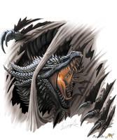 Slashing Dragon by Sunima