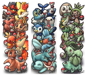 Pokemon starters bookmarks