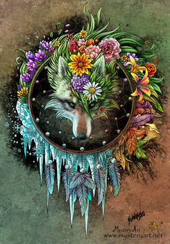 Wolf seasons dreamcatcher