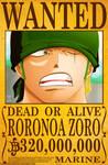 Roronoa Zoro Wanted Poster