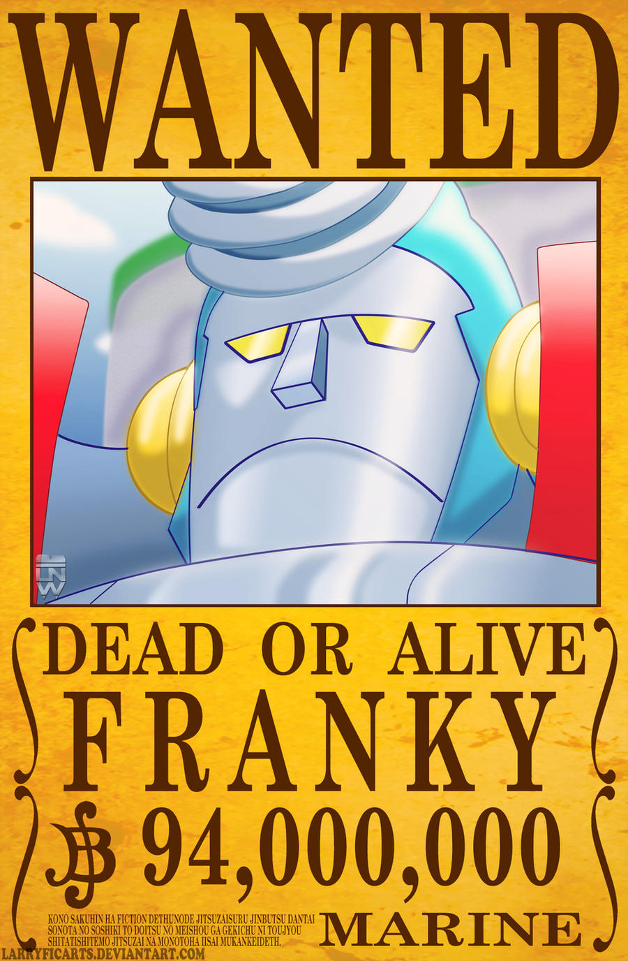 Franky Wanted Poster by LarryficArts on DeviantArt