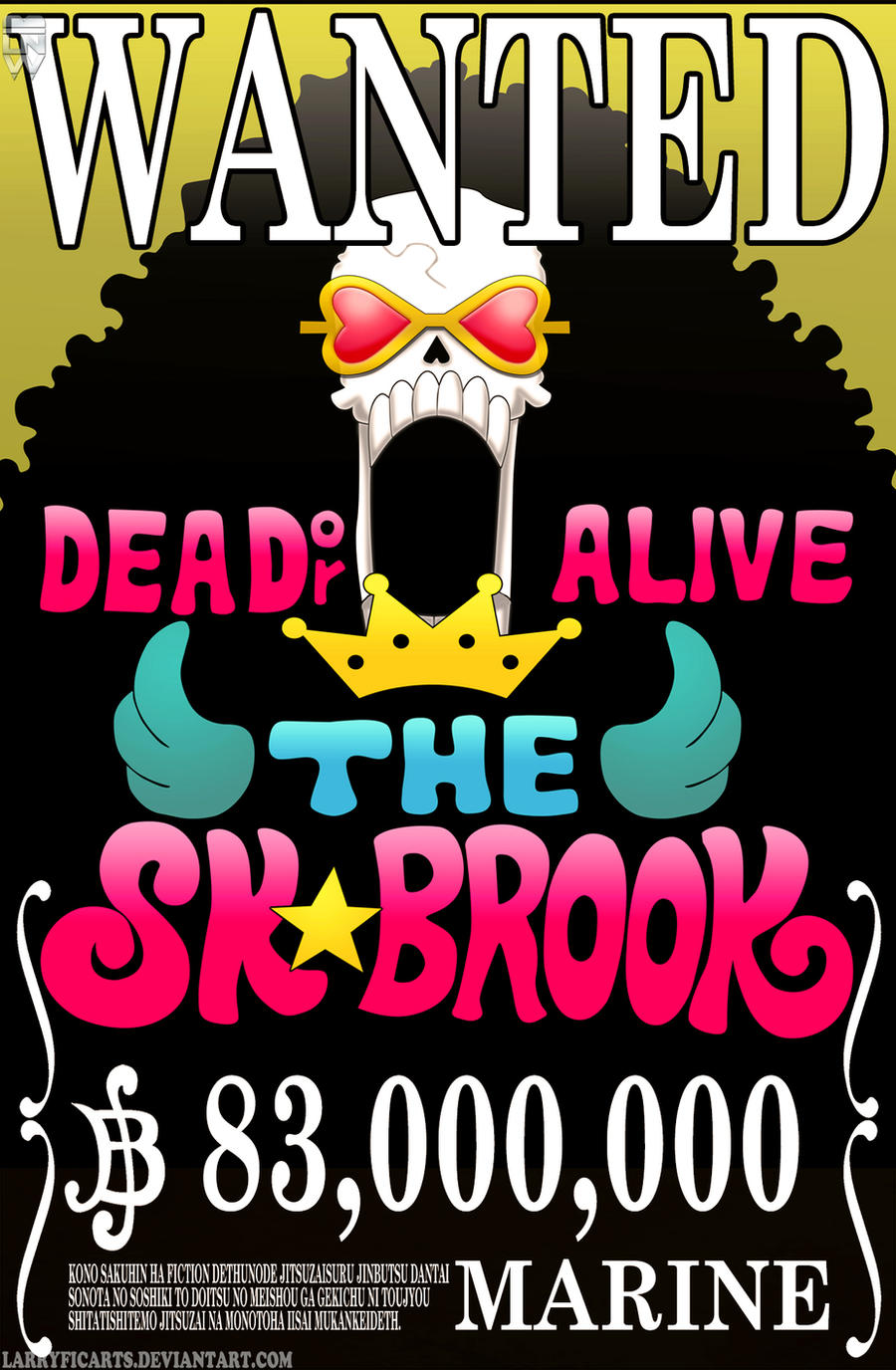 Brook Wanted Poster by LarryficArts on DeviantArt