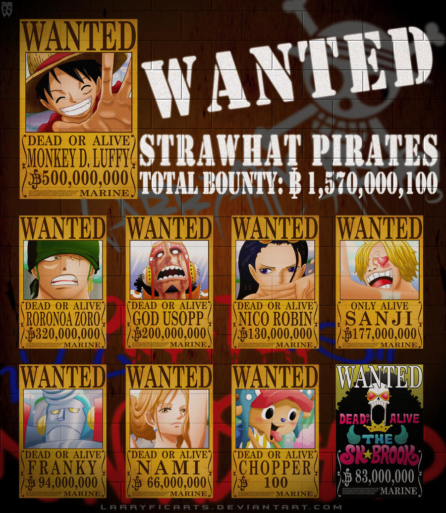 One Piece Wanted Poster Straw Hat Pirates | www.imgkid.com ...