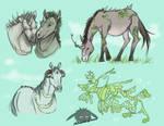 Training sketches - HorsesIthink