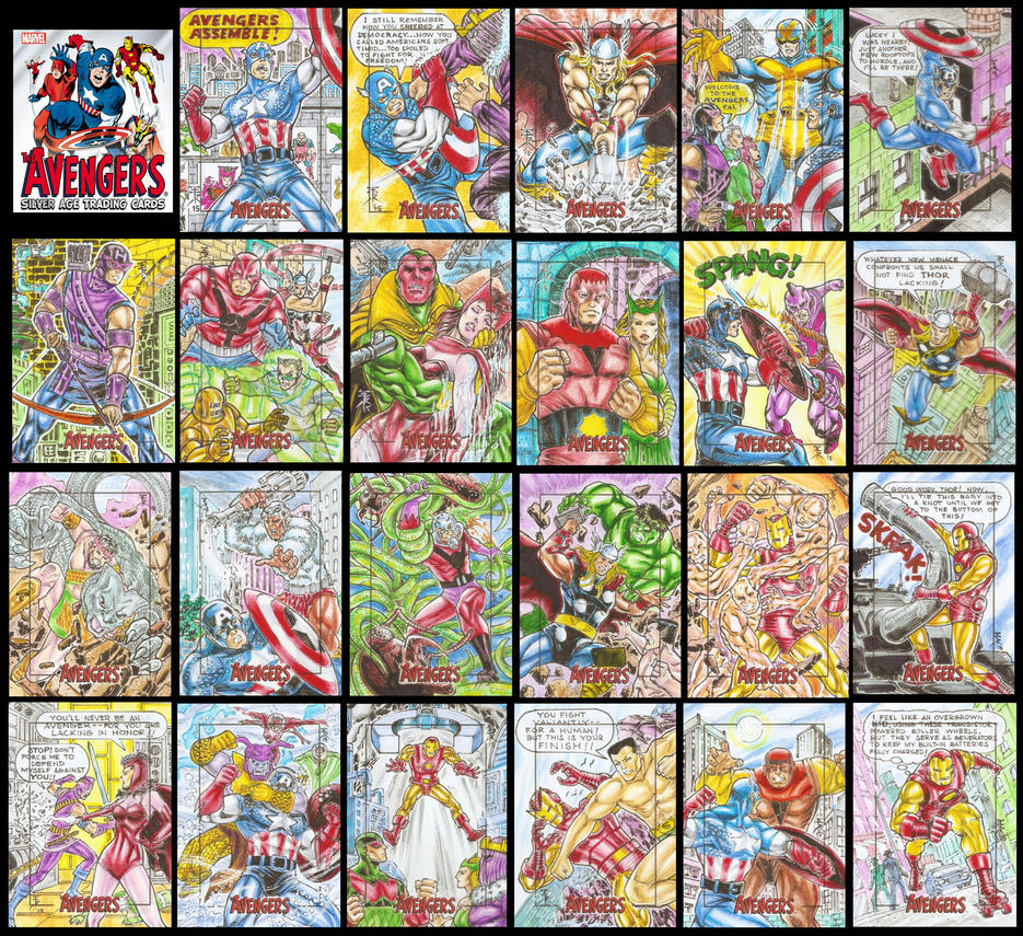 2015 MARVEL SILVER AGE AVENGERS SKETCH CARDS by EuROPA777