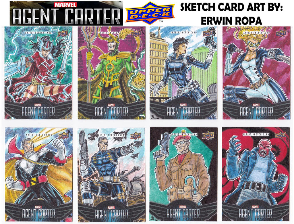 Agent Carter sketch cards 04 by EuROPA777