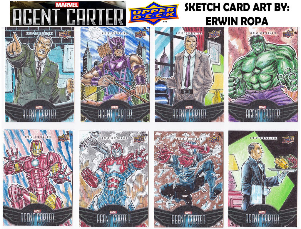 Agent Carter sketch cards 03 by EuROPA777