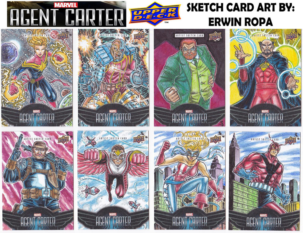 Agent Carter sketch cards 02 by EuROPA777