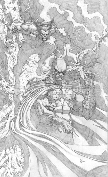 Wolverine Batman Commission by ScottJc