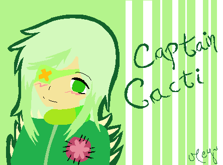 Art Trade - Captain Cacti by Mey-chan