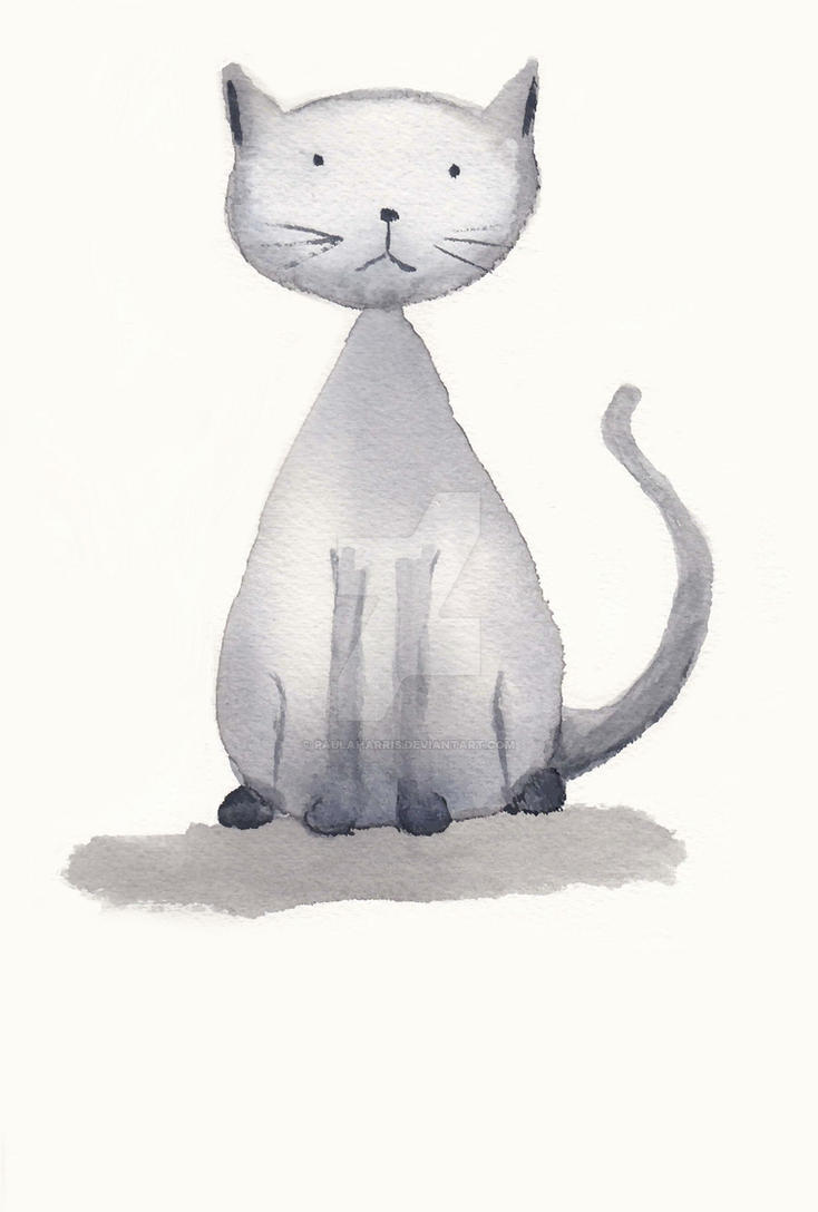 Little Grey Cat by PaulaHarris