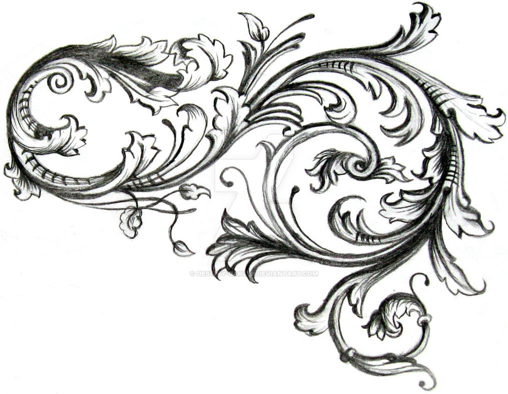 filigree by destiny carter on deviantart Floral Vine Clip Art Banner Lilac Clip Art