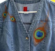 Peacock Vest - SOLD by Destiny-Carter