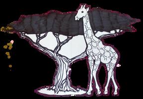 Africa: Acacia and Giraffe by Destiny-Carter