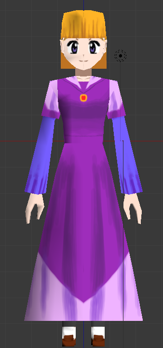 Princess Cassandra Low Poly Model by CrystalClair