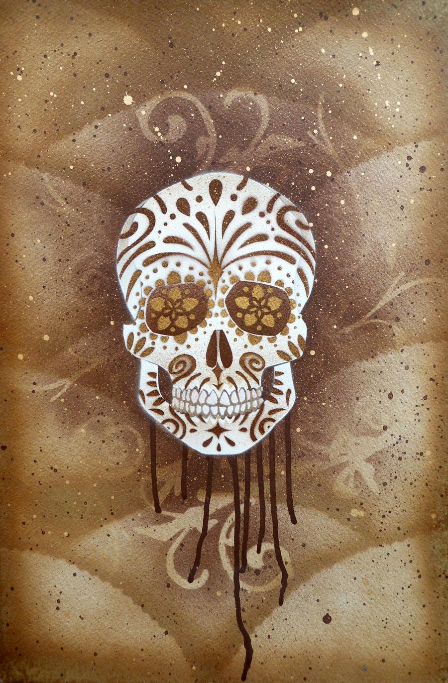 Sugar Skull Stencil Print 3 by darcydoll on DeviantArt