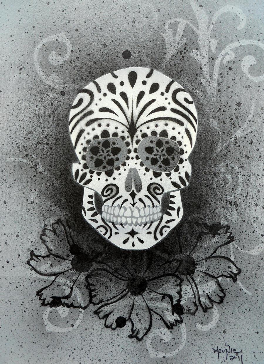Sugar Skull Stencil Print 4 by darcydoll on DeviantArt