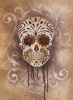 Sugar Skull Stencil Print 5 by darcydoll
