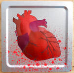 Heart Stencil on Metal by darcydoll