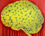 Biohazard Brain Stencil