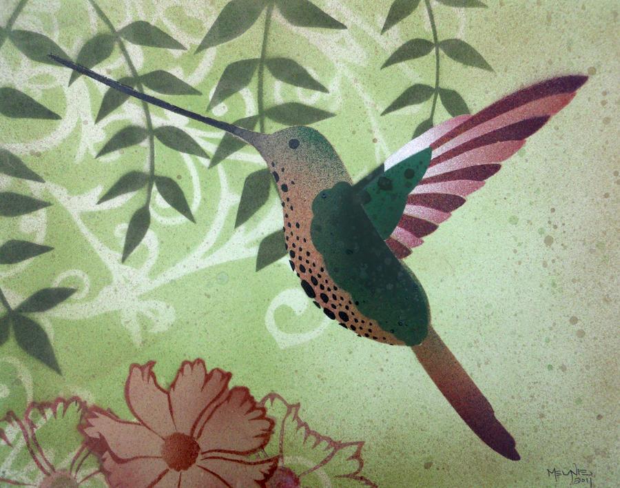Hummingbird Stencil Hummingbird stencil2 by