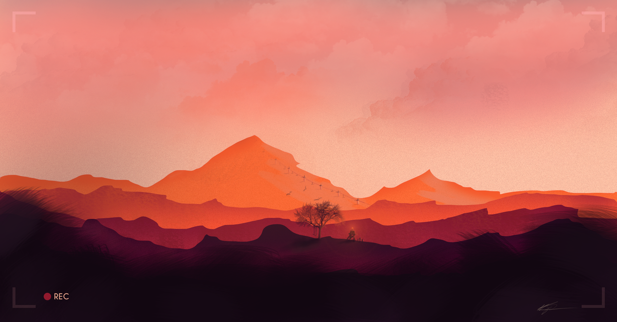 Wip Flat Landscape First Scenery Painting By
