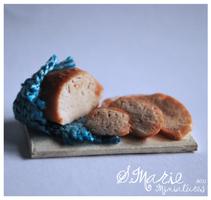 1:12 scale Bread platter by ArmisticeArt