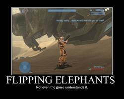 Halo 3: Flipping Elephants by Bai-of-the-akatsuki