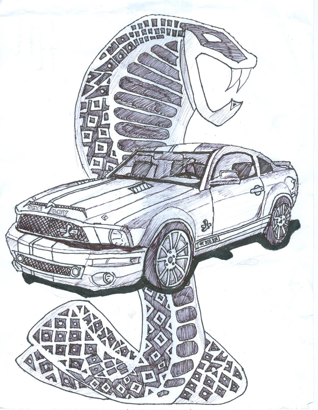 Original Mustang Shelby >> Car Drawing 1 by jadoreracho on DeviantArt