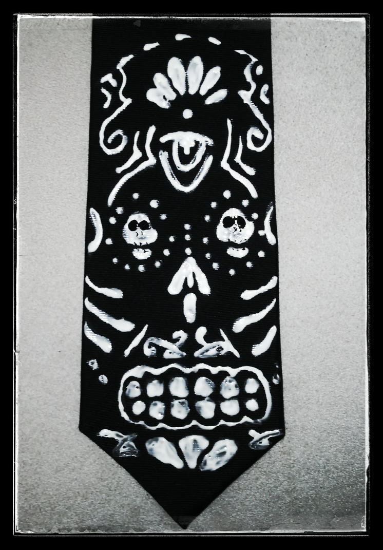Day of the Dead Tie for Dad by grammabeth