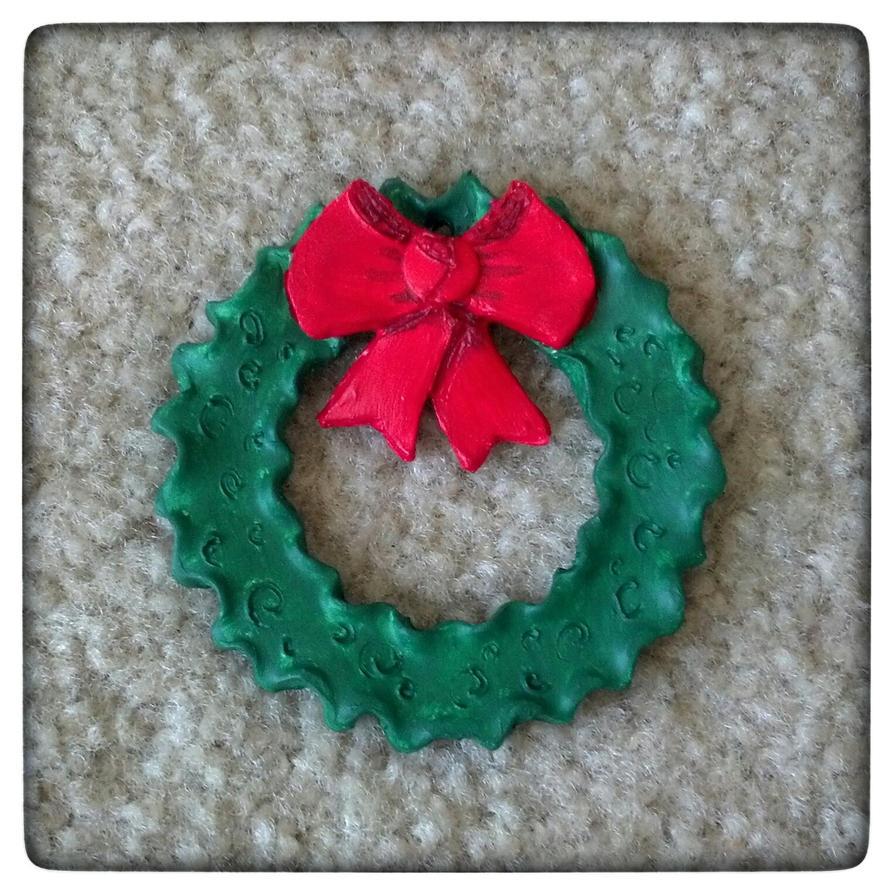 Christmas Wreath Ornament by grammabeth
