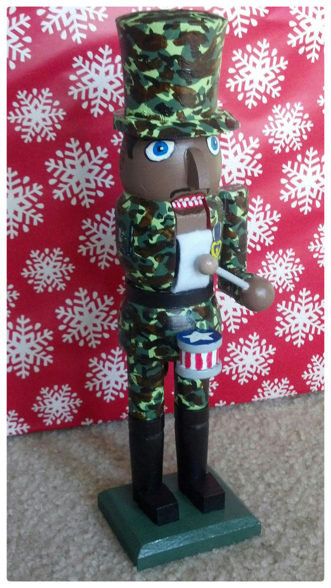 One Armed Purple Heart Veteran Nutcracker by grammabeth