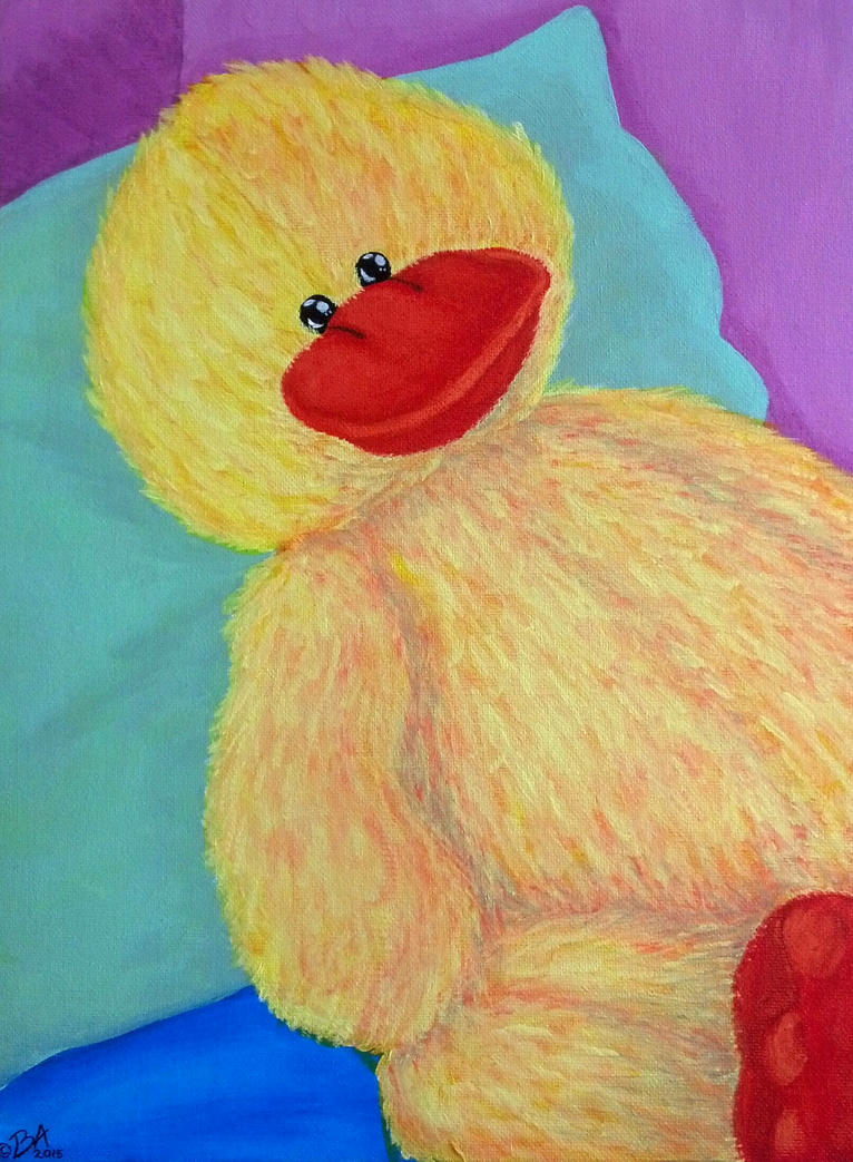 Nursery Painting (Stuffed Ducky) by grammabeth