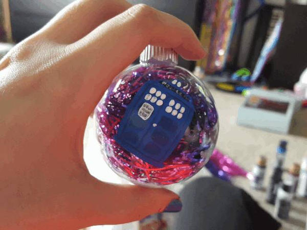 TARDIS Ornament by grammabeth